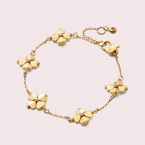 NWT~KATE SPADE~Legacy LOGO SPADE Flower Bracelet